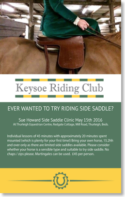 Keysoe Riding Club Side Saddle Image